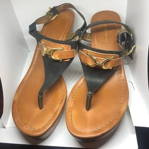 Tommy Hilfiger Leather Wedges